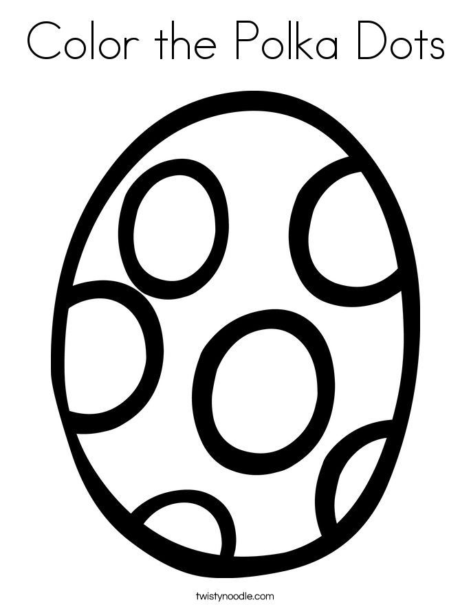 Color the Polka Dots Coloring Page