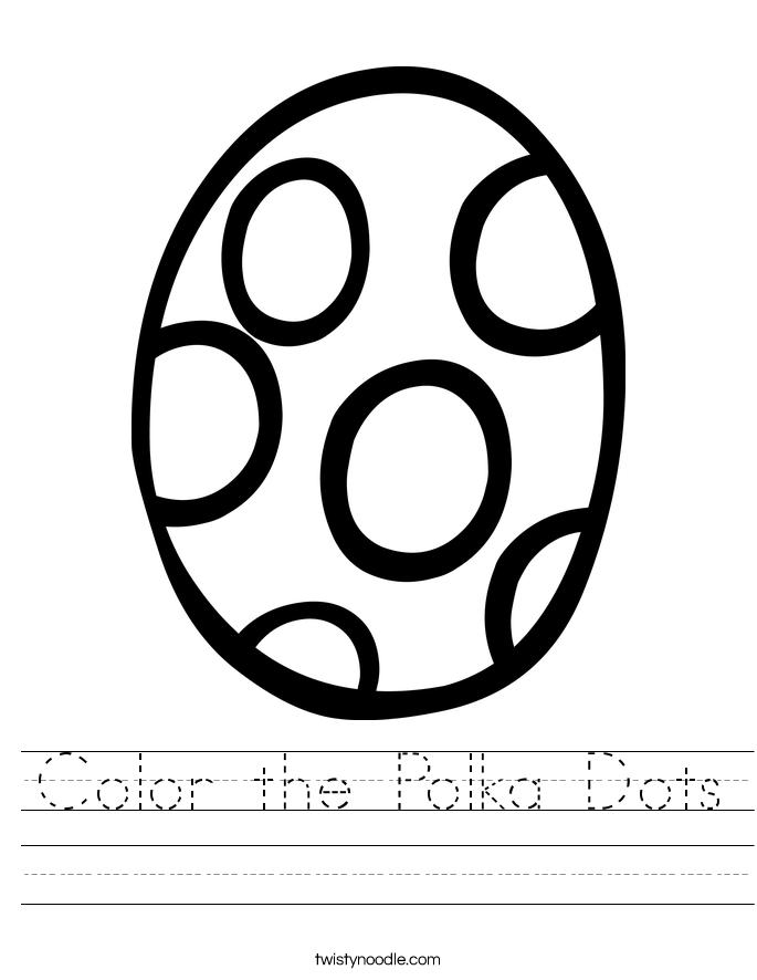 Color the Polka Dots Worksheet