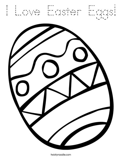 Easter Egg with Zig Zags Coloring Page