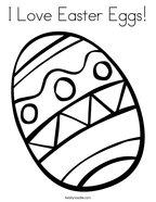 I Love Easter Eggs Coloring Page
