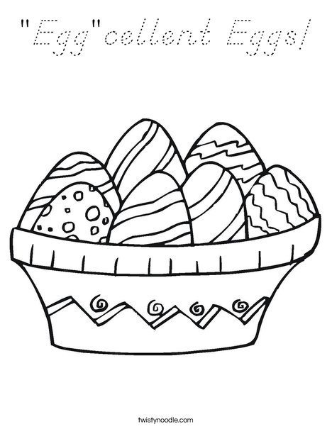 Colorful Easter Eggs Coloring Page