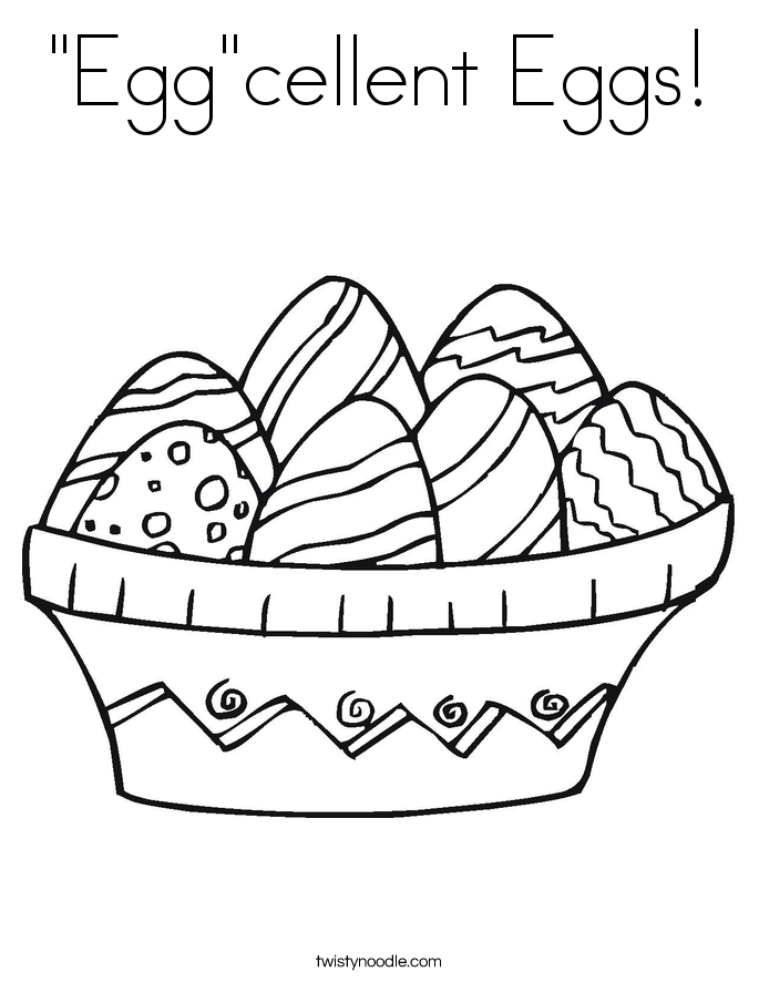 """Egg""cellent Eggs! Coloring Page"