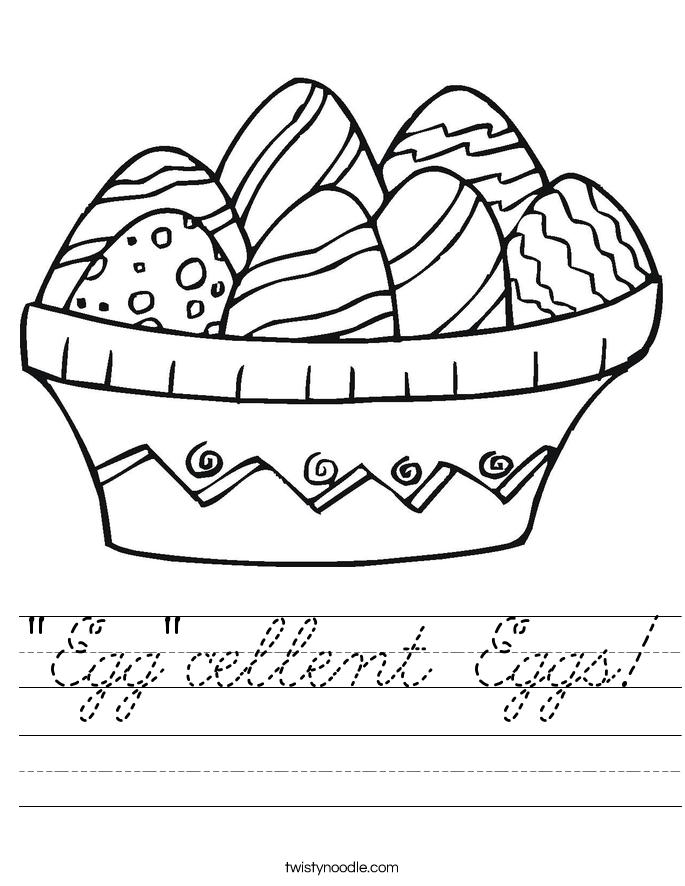 """""""Egg""""cellent Eggs! Worksheet"""