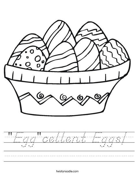 Colorful Easter Eggs Worksheet