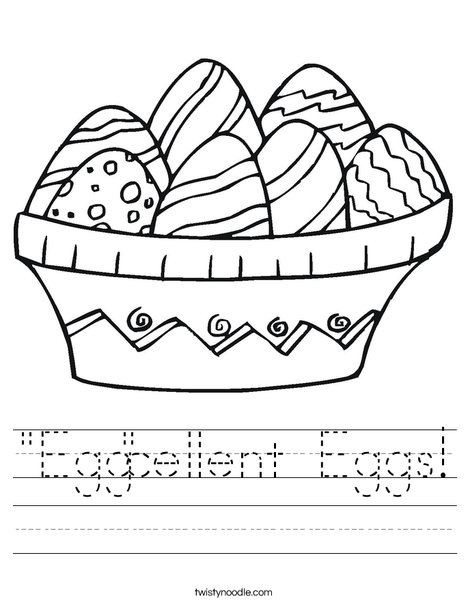 Colorful Easter Eggs Worksheet