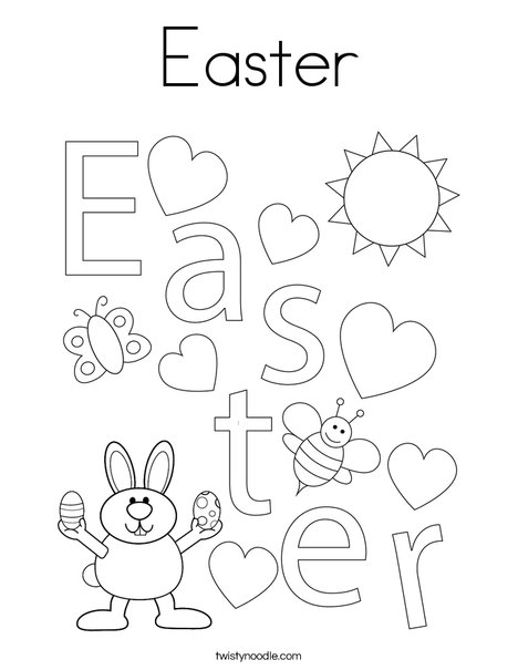 Easter Heart Coloring Page