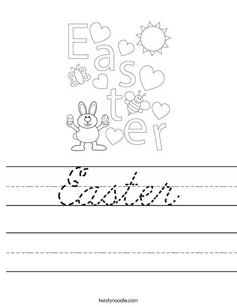 Easter Heart Worksheet