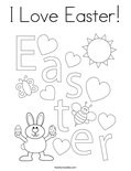 I Love Easter! Coloring Page
