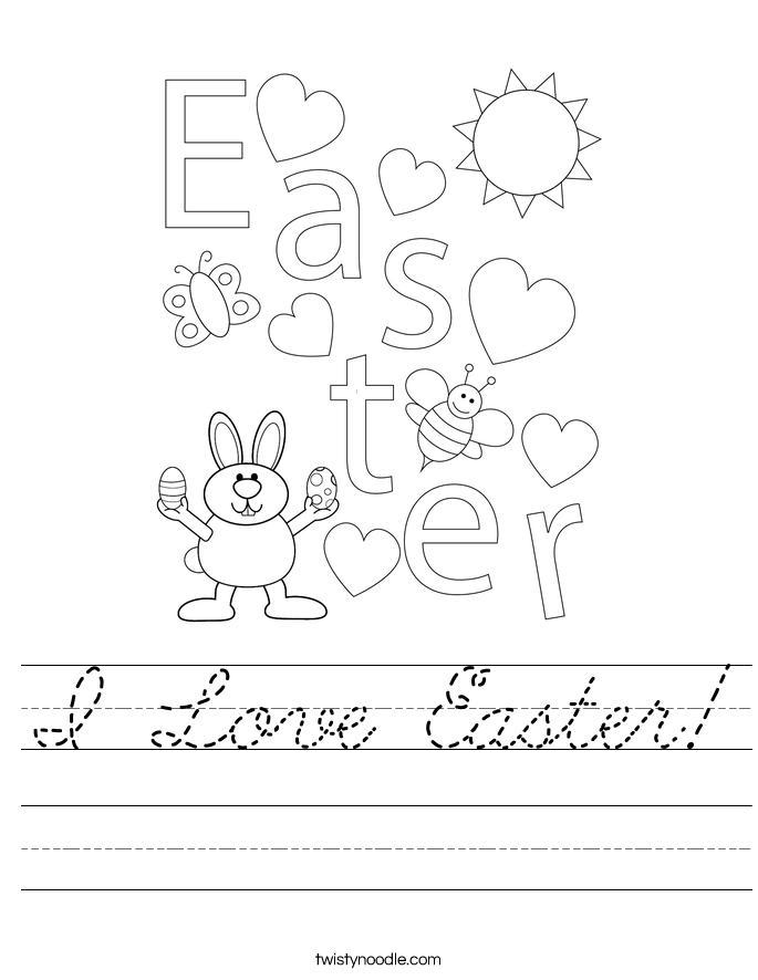 I Love Easter! Worksheet