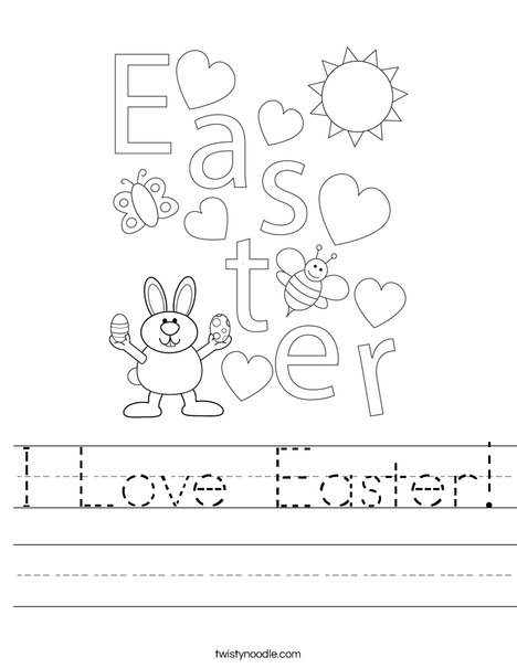 Easter Heart Worksheet