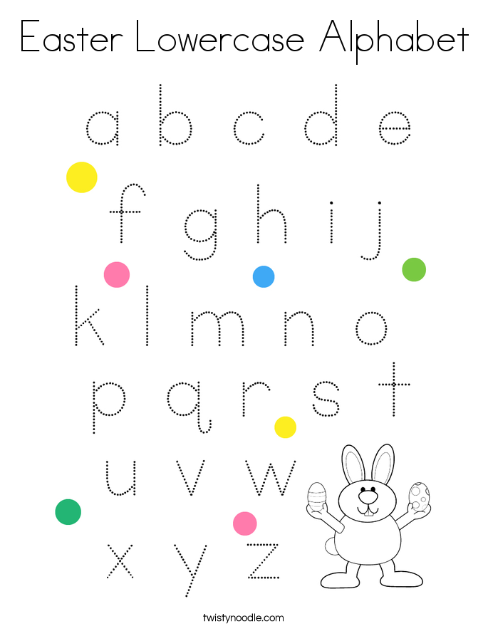 Easter Lowercase Alphabet Coloring Page