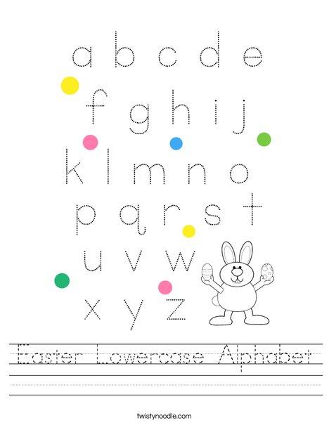 Easter Lowercase Alphabet Worksheet