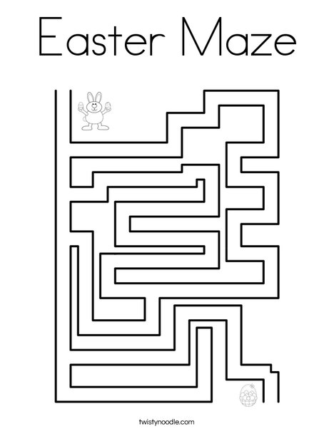 Easter Maze Coloring Page - Twisty Noodle