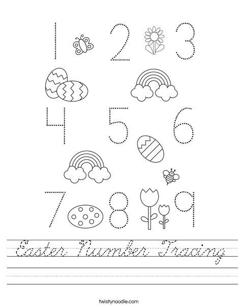 Easter Number  Worksheet