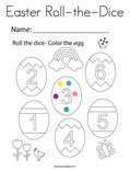 Easter Roll-the-Dice Coloring Page