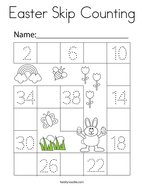 Easter Skip Counting Coloring Page