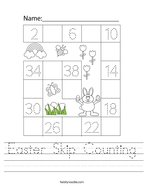 Easter Skip Counting Handwriting Sheet