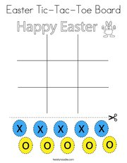 Easter Tic-Tac-Toe Board Coloring Page
