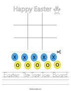 Easter Tic-Tac-Toe Board Handwriting Sheet