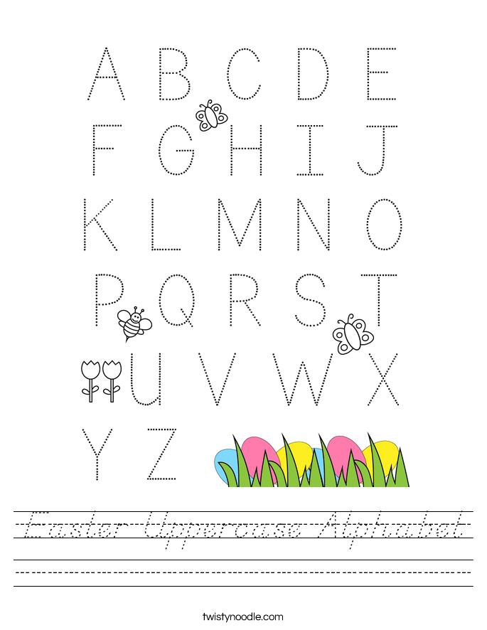 Easter Uppercase Alphabet Worksheet
