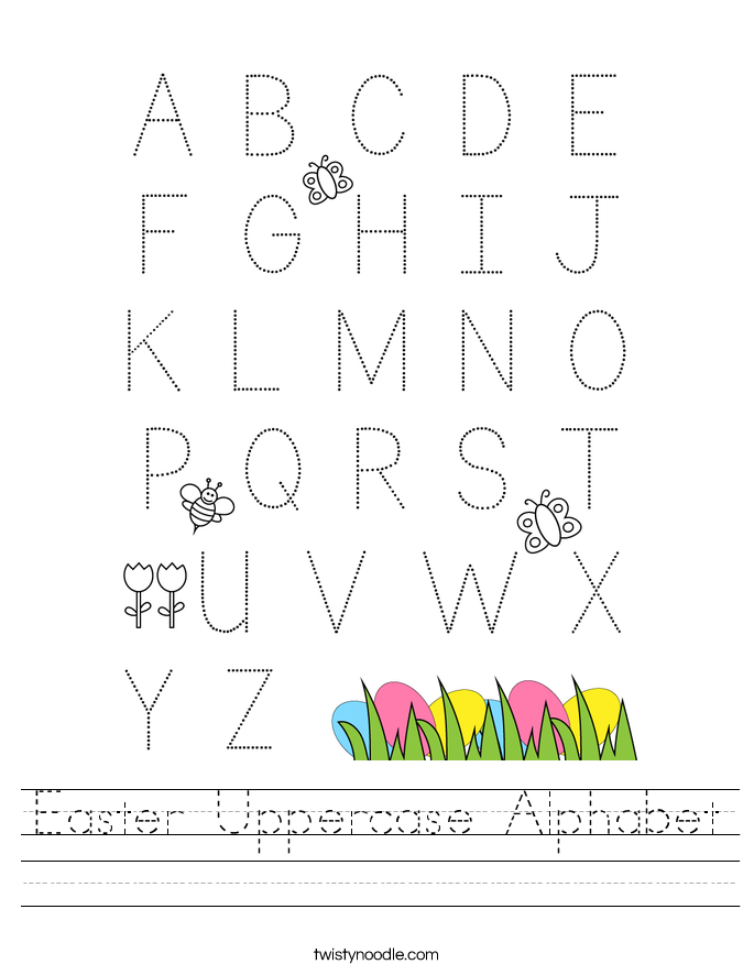 Easter Uppercase Alphabet Worksheet