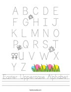 Easter Uppercase Alphabet Handwriting Sheet