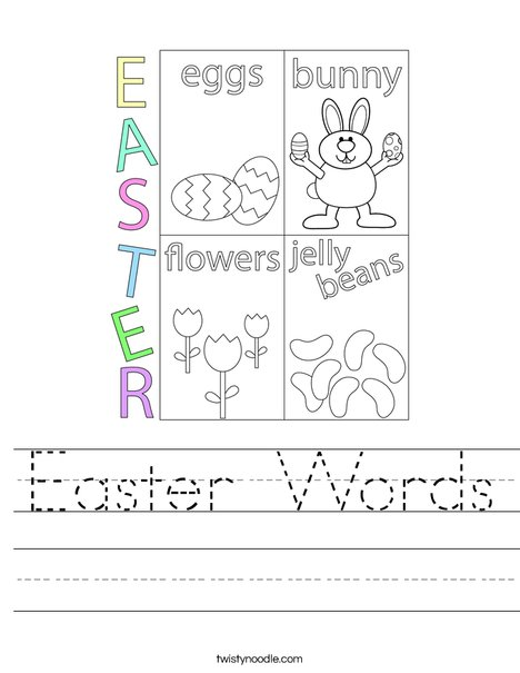 Easter Words Worksheet