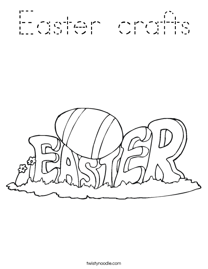 Easter crafts Coloring Page