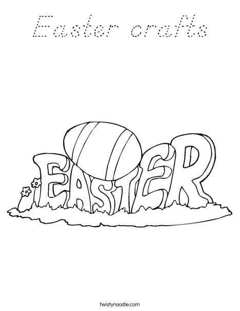 Happy Easter Sign Coloring Page