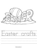 Easter crafts Handwriting Sheet