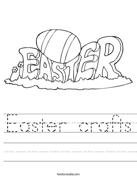 Happy Easter Sign Worksheet