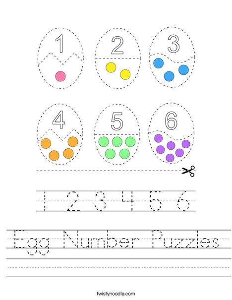 Egg Counting Puzzles Worksheet