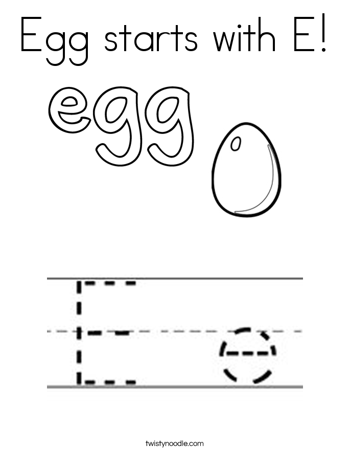 Letter Word That Starts With E
