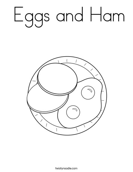 Eggs and Ham Coloring Page