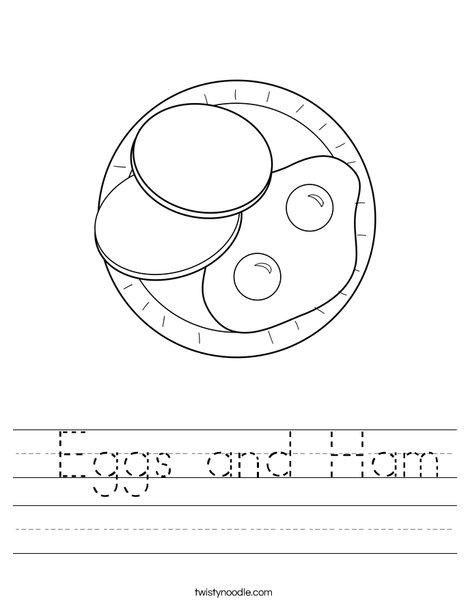 Eggs and Ham Worksheet