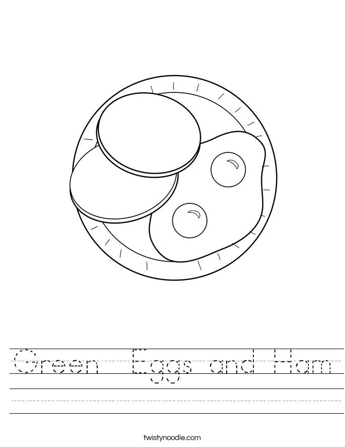 Green Eggs And Ham Worksheet Twisty Noodle