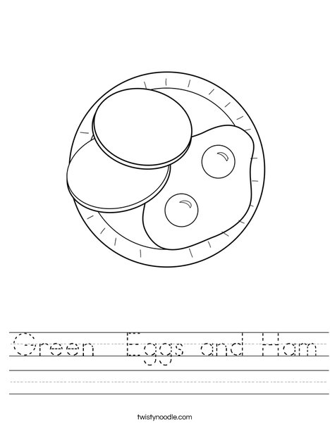 Eggs and Ham Worksheet