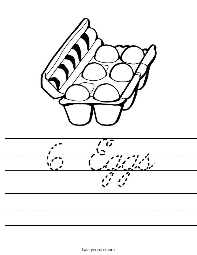 6 Eggs Worksheet