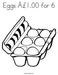 Eggs £1.00 for 6 Coloring Page