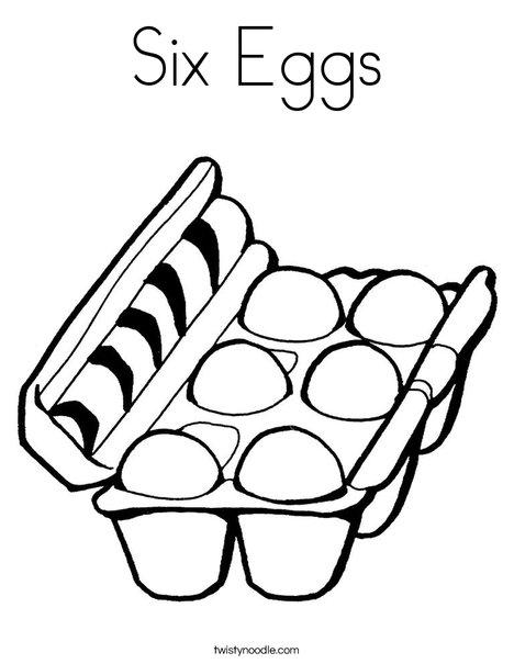 Eggs in a Carton Coloring Page