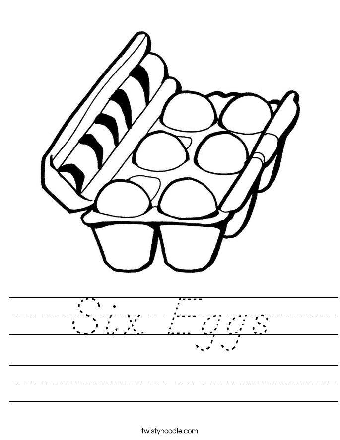 Six Eggs Worksheet