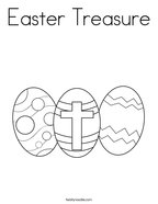 Easter Treasure Coloring Page