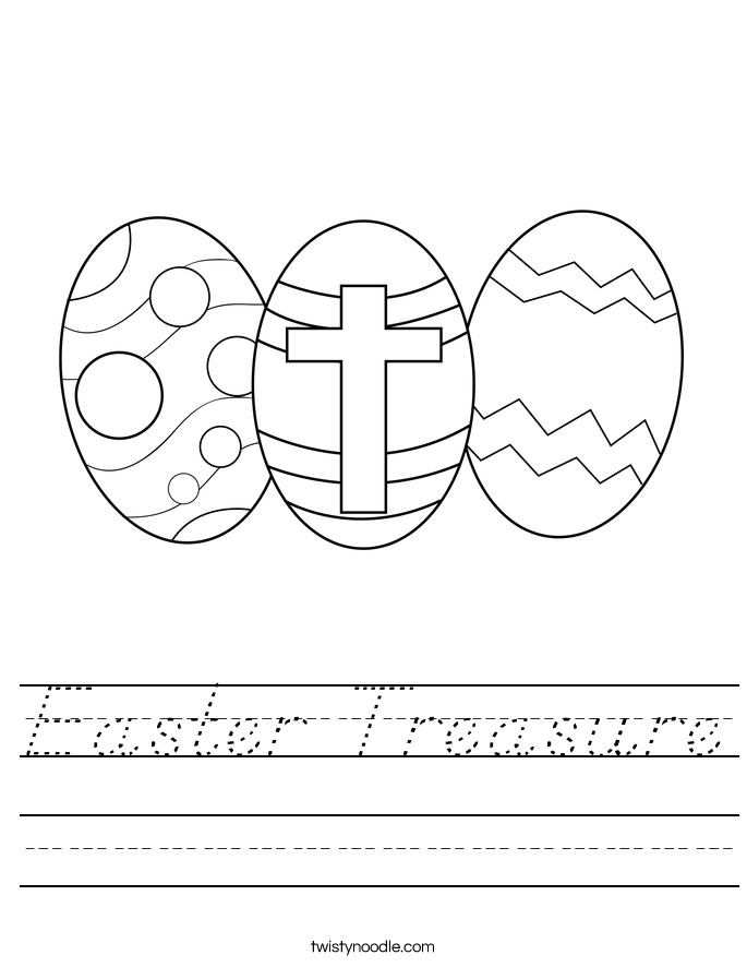 Easter Treasure Worksheet