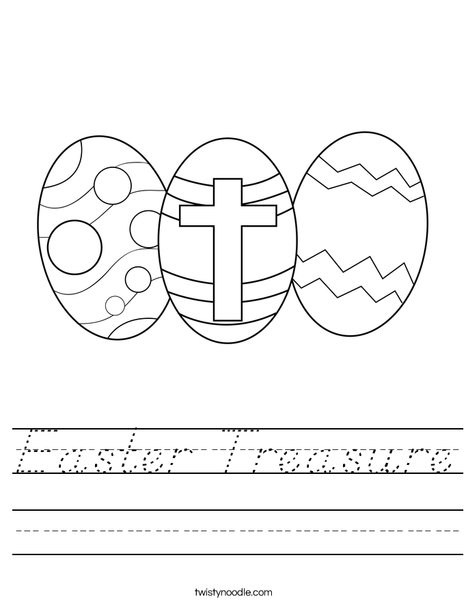 Easter Eggs with a Cross Worksheet