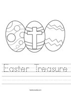 Easter Treasure Handwriting Sheet