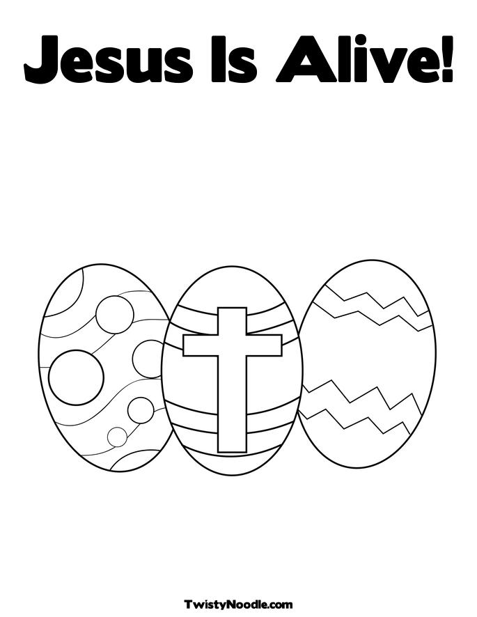 coloring pages easter jesus. Easter Eggs with a Cross