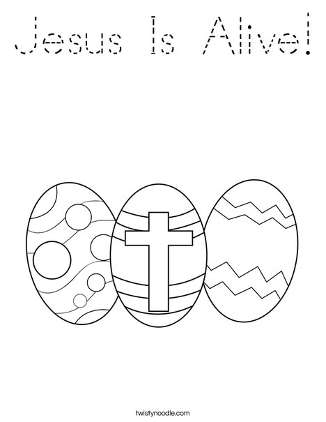 Easter Eggs with a Cross Coloring Page
