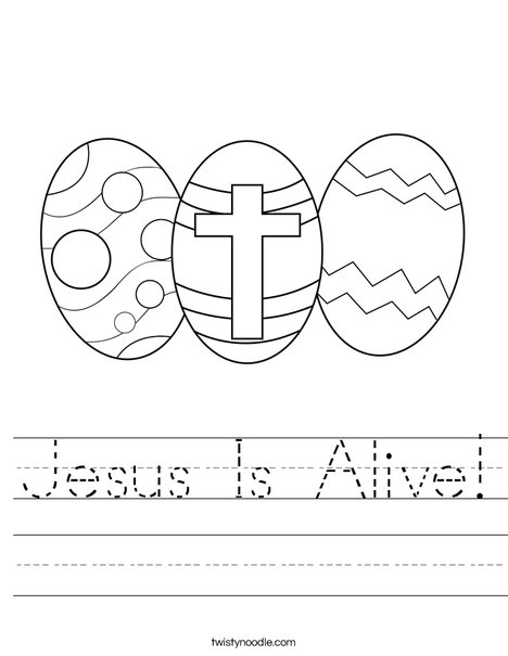 easter christian coloring pages kindergarten | Jesus Is Alive Worksheet - Twisty Noodle