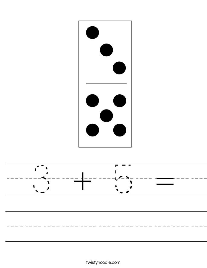 3 + 5 = Worksheet