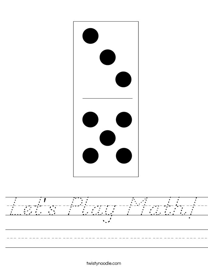 Let's Play Math! Worksheet
